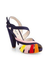 Miu Miu | Blue Sandals | Lyst