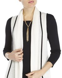 In Cashmere - White Sleeveless Cardigan - Lyst