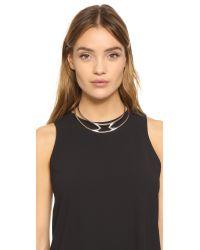 Pamela Love - Metallic Apex Collar Necklace - Lyst