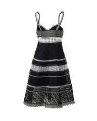 Jonathan Simkhai - Black Distressed Track Dress - Lyst