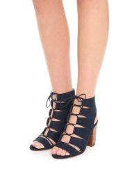 Splendid - Black Lace Up Sandals - Lyst