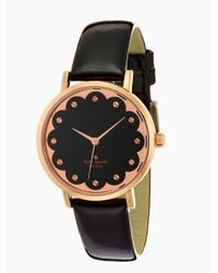 kate spade new york | Black Scallop Metro Watch | Lyst