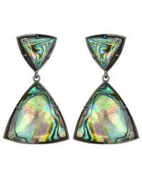 Kendra Scott | Metallic Maury Statement Earrings, Abalone Shell | Lyst
