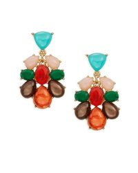 kate spade new york | Metallic Fine Art Cluster Drop Earrings | Lyst