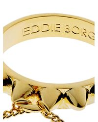 Eddie Borgo | Metallic Studded Gold-plated Four-finger Ring | Lyst