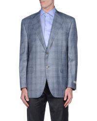 Canali - Blue Blazer for Men - Lyst