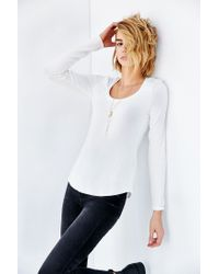 Project Social T - White Scoop Neck Tee - Lyst