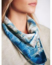 Free People | Blue Jean Shop Womens Shibori Hand Dyed Bandana | Lyst