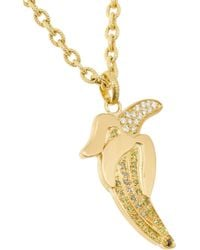 Carolina Bucci | Metallic 18karat Gold Diamond Banana Necklace | Lyst
