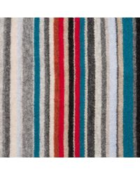Paul Smith | Gray Multistripe Knit Scarf | Lyst