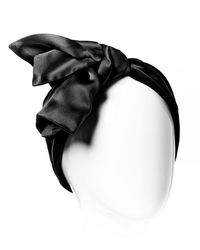 Colette Malouf | Black Silk Bow Tie Turban | Lyst