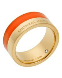 Michael Kors | Metallic Color Block Ring | Lyst