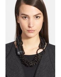 Eskandar | Black Seed Bead & Horn Necklace | Lyst