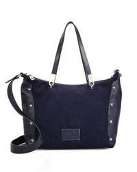 Marc By Marc Jacobs | Blue Ninja Suede & Leather Convertible Tote | Lyst
