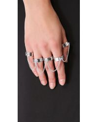 Eddie Borgo | Metallic Five-finger Ring | Lyst