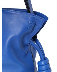 Loewe | Blue Small Flamenco Knot Nappa Leather Bag | Lyst