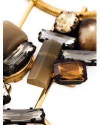 Marni - Black Crystal Pendant Necklace - Lyst
