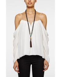 Nicole Miller - Black Mala Ganesh Necklace - Obstacles - Lyst