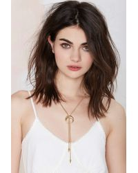Nasty Gal - Metallic Mariana Bolo Necklace - Lyst