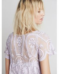 Free People - Purple Jen S Pirate Booty For Womens Pixie Short Sleeved Dress - Lyst