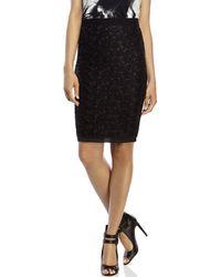 Les Copains - Black Embellished Pencil Skirt - Lyst