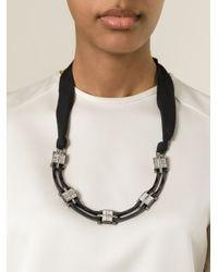 Lanvin - Black Art Deco Necklace - Lyst