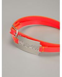 McQ - Red Razor Blade Bracelet - Lyst