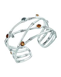 John Hardy - Metallic Batu Bamboo Sterling Silver Cuff Bracelet - Lyst