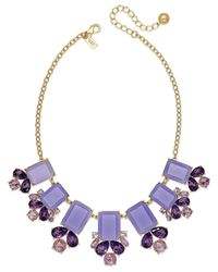 kate spade new york | Gold-tone Purple Stone Statement Necklace | Lyst