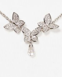 Nadri - Metallic Pave Butterfly Y Necklace 15 - Lyst