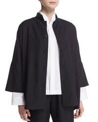 Eskandar - Blue Mandarin-Collar Wool Jacket - Lyst