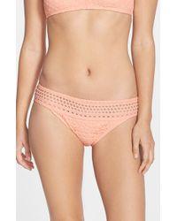 Robin Piccone | Pink Mia Crochet Hipster Bikini Bottoms | Lyst