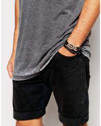 Royal Republiq | Black Leather Buckle Wrap Bracelet for Men | Lyst