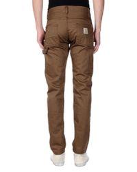 Carhartt - Brown Denim Trousers for Men - Lyst