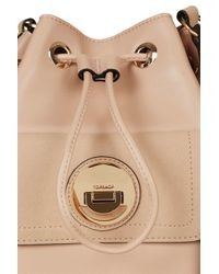 TOPSHOP - Natural Bucket Bag With Circle Lock - Lyst