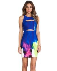 MILLY - Racer Cutout Dress in Blue - Lyst