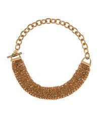 Diane von Furstenberg - Metallic Woven-Chain Gold-Plated Necklace - Lyst