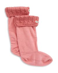 Hunter | Pink Tall Folded Cuff Boot Socks | Lyst