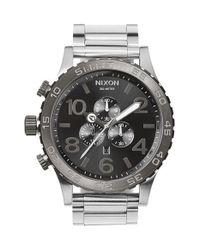Nixon - Metallic 'the 51-30' Chronograph Bracelet Watch for Men - Lyst