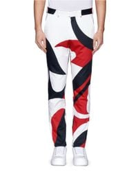 Alexander McQueen - Multicolor Abstract Print Cotton Pants for Men - Lyst