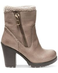 Steve Madden - Natural Sweaterr Heeled Booties - Lyst