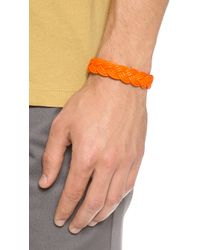Miansai - Orange Nantucket Woven Rope Bracelet for Men - Lyst