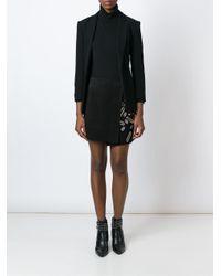 Anthony Vaccarello - Black Eyelet Embellished Wrap Skirt - Lyst