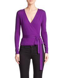 Diane von Furstenberg - Purple Ballerina Wrap Sweater - Lyst