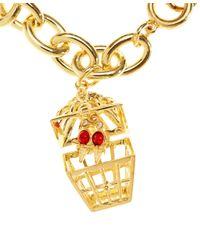 Brooks Brothers | Metallic Birdcage Charm Bracelet | Lyst