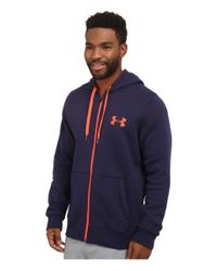 Under Armour - Blue Ua Rival Cotton Full Zip Hoodie for Men - Lyst
