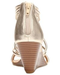 Carlos By Carlos Santana - Metallic Venice Wedge Sandals - Lyst