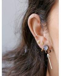 Free People - Metallic Lunar Cage Ear Jacket Earring - Lyst