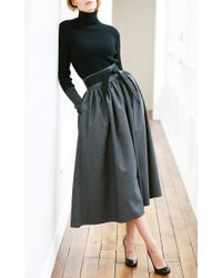 Martin Grant - Gray High Waisted Skirt - Lyst
