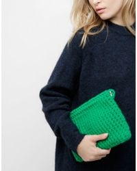 Wool And The Gang | Green Cosy Up Clutch | Lyst